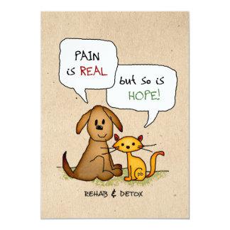 Rehab & Detox Cartoon: Recovery Sobriety DrugFree Card