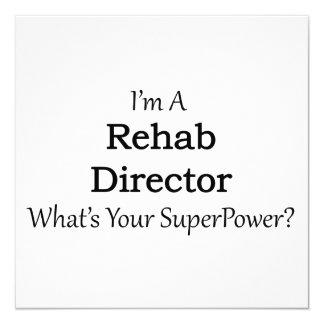 Rehab Director 13 Cm X 13 Cm Square Invitation Card