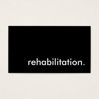 rehabilitation. business card