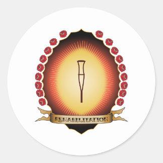 Rehabilitation Mandorla Round Sticker