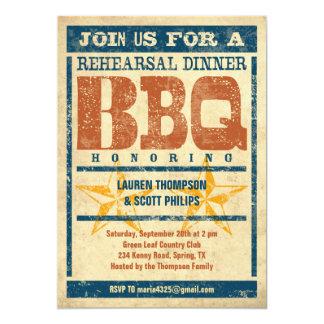 Rehearsal Dinner BBQ Invitations