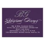 Rehearsal Dinner | Dark Purple Grey Initials Personalised Invites