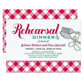 Rehearsal Dinner Invitation   Italian Food