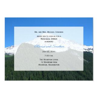 Rehearsal Dinner Invitation -- Mountain Landscape