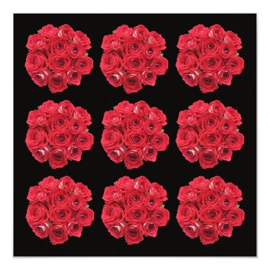 Rehearsal Dinner Invitation -- Red Roses