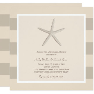 Rehearsal Dinner Invitations | Neutral Starfish
