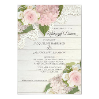 Rehearsal Dinner Modern Rustic Country Floral Rose 13 Cm X 18 Cm Invitation Card