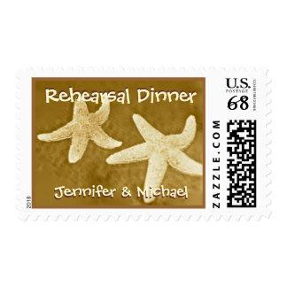 Rehearsal Dinner Starfish Bride & Groom Stamps