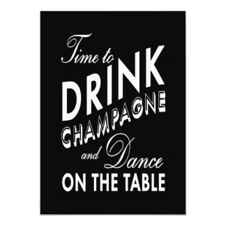 Rehearsal Dinner - Time to Drink Champagne Card