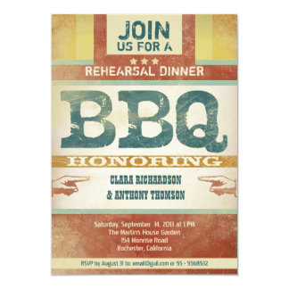 rehearsal dinner vintage unique bbq invitations