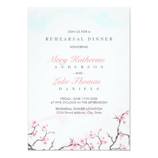 Rehearsal Dinner | Watercolor Cherry Blossoms Card
