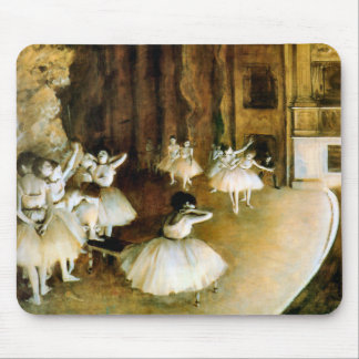 Rehearsal of a Ballet on Stage - Degas Mouse Mat
