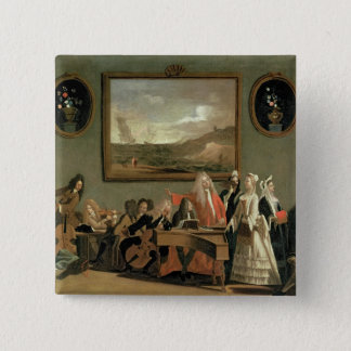 Rehearsal of an Opera 15 Cm Square Badge
