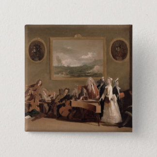 Rehearsal of an Opera, c.1709 (oil on canvas) 2 15 Cm Square Badge