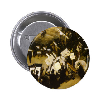 Rehearsal of the Pasdeloup Orchestra by Sargent 6 Cm Round Badge
