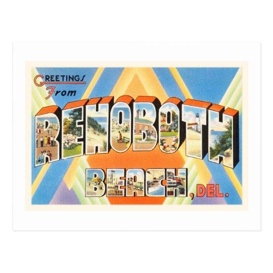 Rehoboth Beach Delaware DE Vintage Travel Postcard