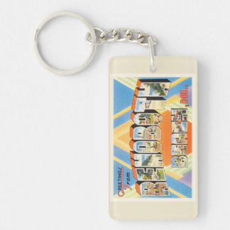 Rehoboth Beach Delaware DE Vintage Travel Postcard Key Ring