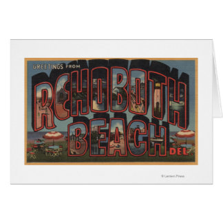 Rehoboth Beach, Delaware - Large Letter Scenes Card