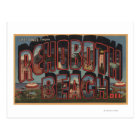 Rehoboth Beach, Delaware - Large Letter Scenes Postcard