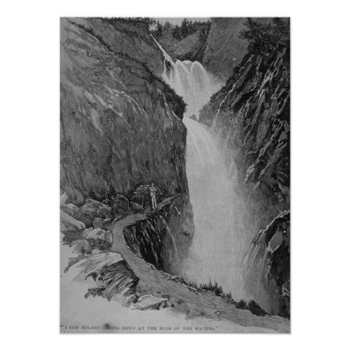 Reichenbach Falls - Sidney Paget Posters