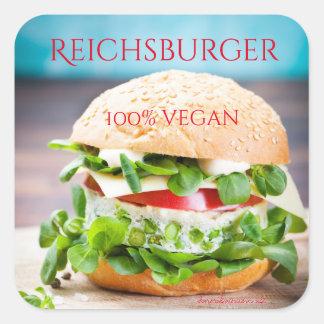 Reichsburger 100% vegan square sticker