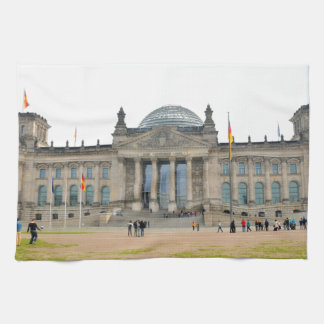 Reichstag building in Berlin, Germany Tea Towel