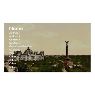 Reichstag House, with Triumphal Column, Berlin, Ge Business Card Templates