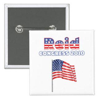 Reid Patriotic American Flag 2010 Elections 15 Cm Square Badge