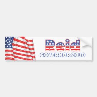 Reid Patriotic American Flag 2010 Elections Car Bumper Sticker