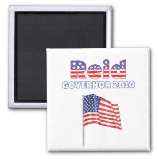 Reid Patriotic American Flag 2010 Elections Square Magnet