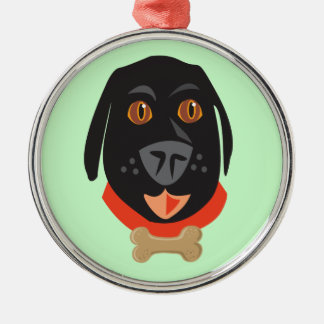 Reigning Cats & Dogs_Furry Faces_Big Ernie Christmas Ornaments