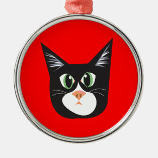 Reigning Cats & Dogs_Furry Faces_Cleo Christmas Ornaments
