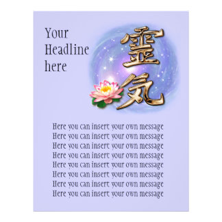 reiki2, YourHeadlinehere, Here you can insert y... 21.5 Cm X 28 Cm Flyer