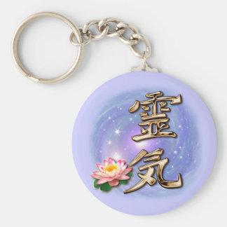 Reiki Basic Round Button Key Ring