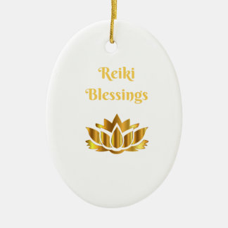 'Reiki Blessings' quote Christmas Ornament