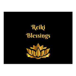 'Reiki Blessings' quote Postcard