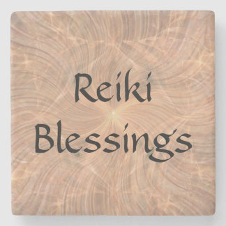 Reiki Blessings Stone Coaster