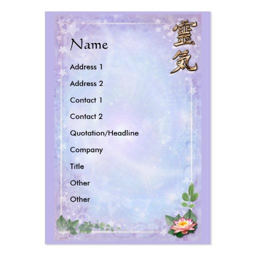 Reiki Business Card Templates