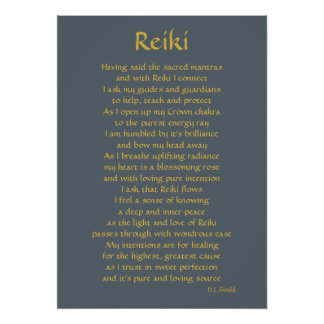 'Reiki Connection' poem art Poster