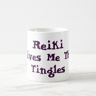 Reiki Gives Me Tingles Basic White Mug