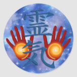 Reiki Hands   heaven Round Sticker