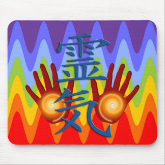 Reiki Hands | sinus chakren colors Mouse Pad