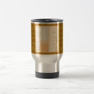 REIKI Healing Gold : Symbols Signs CRYSTAL Gold Stainless Steel Travel Mug