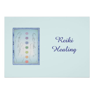 Reiki Healing Hands Poster