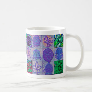 Reiki Healing Signs 12 Havenly blue Basic White Mug