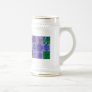 Reiki Healing Signs 12 Havenly blue Beer Stein