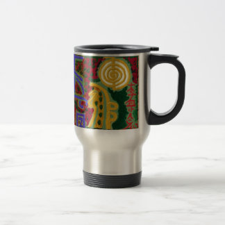 Reiki Healing Symbols by Navin Joshi Artist Canada Travel Mug