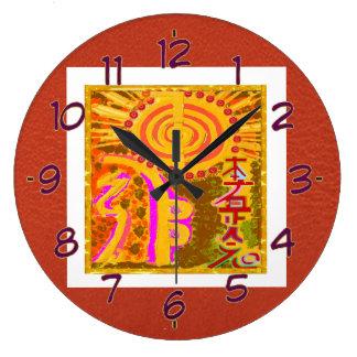 REIKI Healing Symbols Large Clock