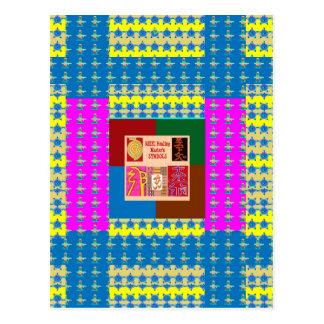 REIKI Healing Symbols on Full Energy Mandala Color Postcard