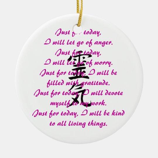 Reiki Kanji and Precepts Christmas Ornament